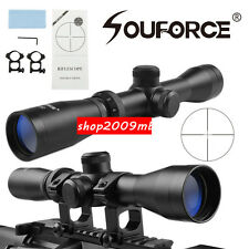2-7x32MOA Duplex Reticle Optics Rifle Long Eye Scope For Hunting