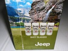 JEEP WILLYS - COLLECTOR'S SHOT GLASSES, SET OF FOUR - STYLE 2 (PARTS)