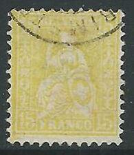1881 SVIZZERA USATO ALLEGORIA 15 CENT - G036