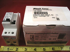 Abl Sursum FI22.03 Earth Leakage FI Circuit Breaker 15.922 25a 2 Pole 25 amp New