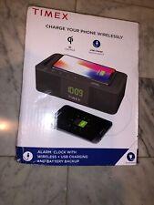 Timex Alarm Clock w/Wireless charging dock & USB Charging - TW400