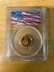 1/10oz 2001 $5 WTC Recovery Gold Eagle - PCGS 1 of 531 Gem Uncirculated
