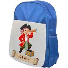 Personalised Childrens Pirate Backpack - Pirate Telescope - School Bag - Blue