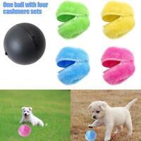 Magic Roller Ball Automatic Dog Cat Toy Robotic Microfiber Mop Ball Sweeper HOT