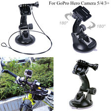 Motorcycle Smatree Suction Cup Mount Holder Tether Lanyard For GoPro Hero Camera