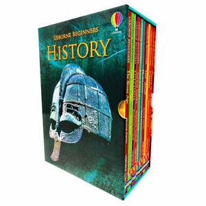 Usborne Beginners History Collection 10 Hardback Book Box Set (RRP £59.90) NEW
