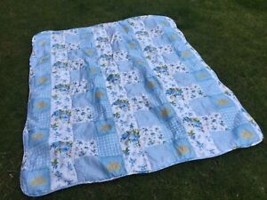 Vintage Look Patchwork BedSpread Double Bed Blanket Cover Throw Floral Chintz