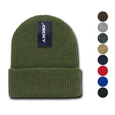 1 Dozen Decky Beanie Beanies GI Watch Cap Hat Ski Military Warm Winter Wholesale