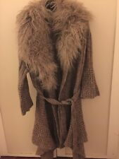 New Women 100% Genuine Mongolian Fur Knot Jacket Coat Size Fits All