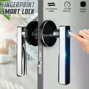 Zinc Alloy Fingerprint Lock Smart Biometric Door Lock Home Security Locks