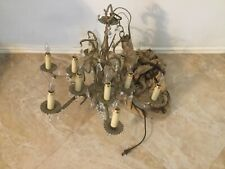 Vintage Bronze Color Light Candle Chandelier Lighting Lamp Very Rare