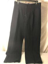 Vintage Wwii Swedish Military Paratrooper Black Wool Trousers N 96 K 29 x 29