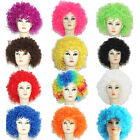 14 Colors New Fashion Women Men Short Curly Afro Clown Party Cosplay Full Wigs