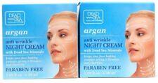 2 Dead Sea Argan Anti Wrinkle Night Cream Firmness Elasticity Hydrating 1.69 oz
