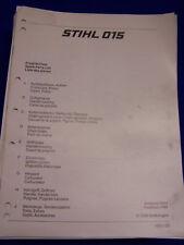 Original Liste Pièces Détachées 03/1985 Stihl 015 - Rareté