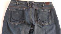 U Yanuk Jeans Womens 30 Medium Wash Boot Cut Sexy Pants 34 x 33 Actual USA Made