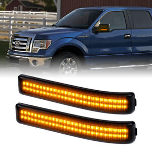 Amber Left Right Side Mirror Turn Signal Lights for 09-14 Ford F-150 Raptor