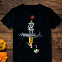 RARE!!New Pennywise IT Clown shadows balloons Halloween BLACK T-Shirt