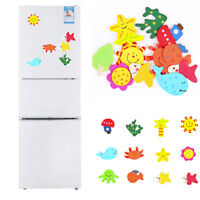 12 PC Cartoon Animal Magnetic Refrigerator Stickers Kid Educational Toy Colorful