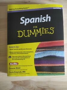 Spanish for dummies Spanish Coursebook Excellent condition Cd included