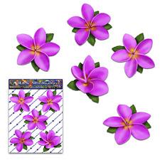 FLOWER Pink Single Frangipani Plumeria/Butterfly Car Sticker Decal-ST00041PK_OLD