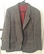 "Vintage Jack Fraser Harris Tweed Mens Blazer 44"" Jacket Wool Hand Woven Scotland"