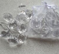 Pack of 12 Crystal Jewel Decorations. Acrylic Diamond Christmas Tree Decorations