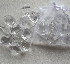 Pack of 40 Crystal Jewel Decorations. Acrylic Diamond Christmas Tree Decorations