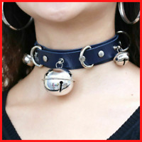 Gothic Choker Leather Collar Necklace Belt Punk Trend Harajuku Goth Bells Party