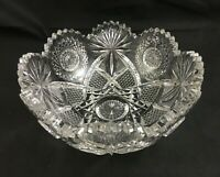 """🔷 J. Hoare & Co ABP Cut Glass No. 5134-284 Pattern 8"""" Bowl  - SIGNED"""