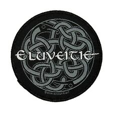 Eluveitie Celtic Knot Band Logo Patch Folk Metal Music Woven Sew On Applique