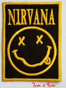 Nirvana Rock music Band Iron or Sew On Embroidered Patch #199