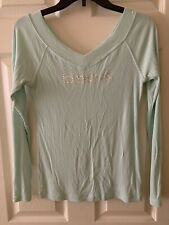 Bebe Light Mint Top W Long Sleeves Sz M