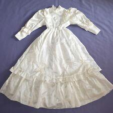 Crème Scintillante Robe Enfant 134 Jeune Fille à Fleurs Communion Robe de Fête