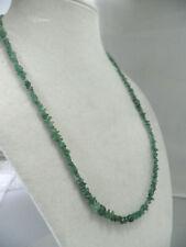 Green Natural Earth-Mined TSAVORITE GARNET Chip Necklace 18 inch N9718