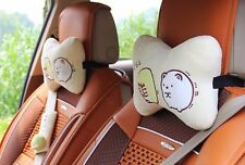 2pcs Cute Polar Bear Animal  Auto Car Neck Rest Cushion Headrest Pillow
