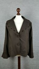 Marks And Spencer Womens Wool Jacket Blazer Size 20 Brown Throw on
