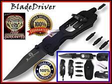 Multi Tool Knife Survival Screwdriver LED Light Pocket Gear Camping Outdoor New