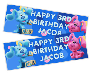 2x Personalised Blues Clues Birthday Banners