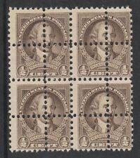USA, bloc 1/2C 3146-1932 WASHINGTON des performances DOUBLE 4 paire de menthe non monté