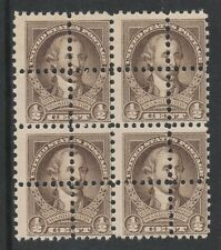 USA 3146 - 1932 WASHINGTON 1/2c block of 4  DOUBLE PERFS unmounted mint