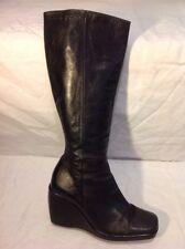 Kaliko Black Knee High Leather Boots Size 39