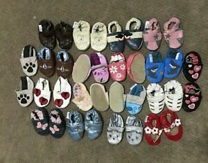 Soft soled baby leather shoes