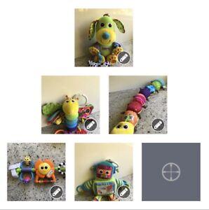 Lamaze Baby Toys Lot - Robot Dog Firefly Inch Worm & Cradle Totem