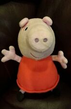 """Peppa Pig Plush stuffed toy doll figure 8"""" clean pre-owned"""