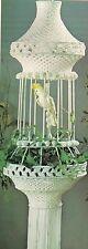 Macrame Bird Cage Lamp & Plant Holder Pattern - #OPUS4 Fiber Form & Fantasy 4