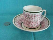 Antique Spongeware Coffee Can & Saucer Sponge Ware Cup & Saucer