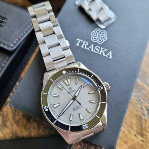 Traska Freediver V3 Dive Watch - Stone Grey w/ Ceramic Bezel - Mint & Sold Out