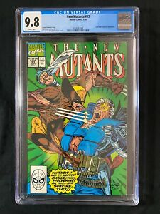 New Mutants #93 CGC 9.8 (1990) - Wolverine & Sunfire appearance