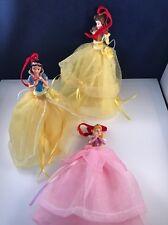 3 DISNEY STORE PRINCESS Snow White Bell Sleep. SKETCHBOOK HANGING ORNAMENT Used